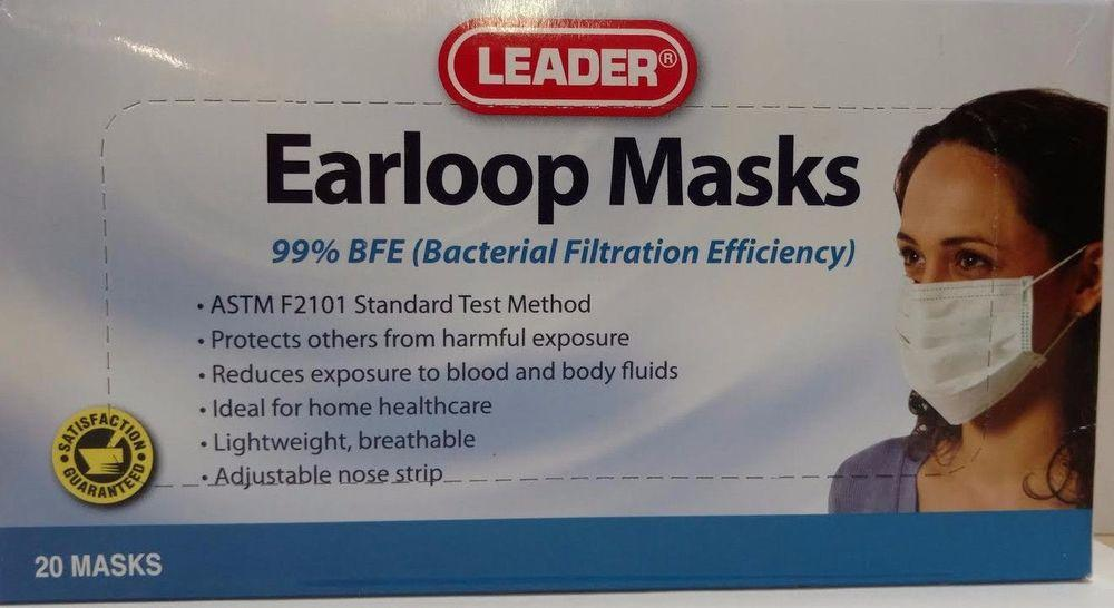3m nexcare first aid earloop face mask